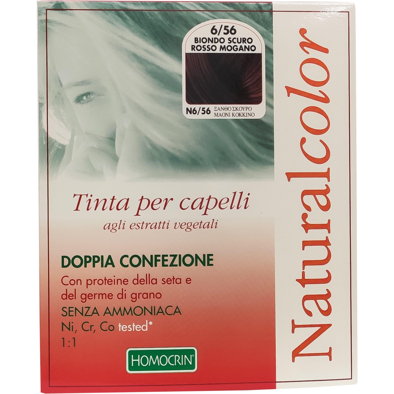 Specchiasol Homocrin Natural Color Φυτική Βαφή Μαλλιών Χωρίς Αμμωνία 1 Τεμάχιο – Ν6/56 Ξανθό Σκούρο Μαονί Κόκκινο