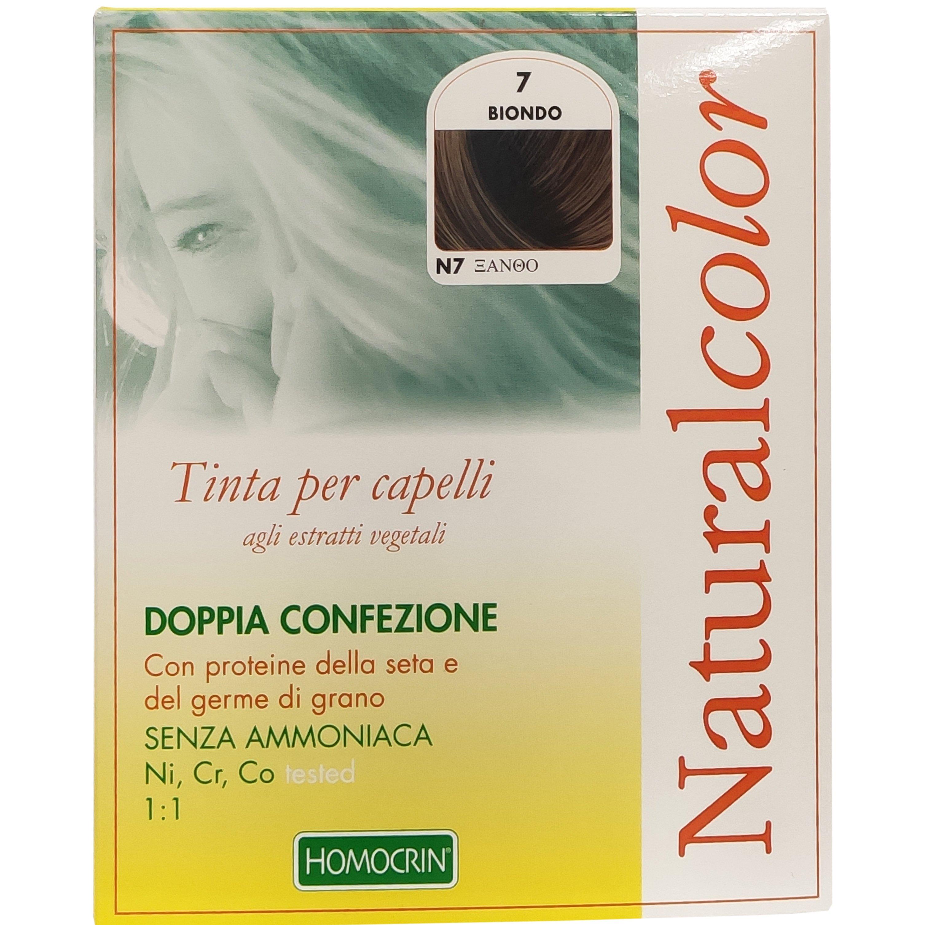 Specchiasol Homocrin Natural Color Φυτική Βαφή Μαλλιών Χωρίς Αμμωνία 1 Τεμάχιο – Ν7 Ξανθό