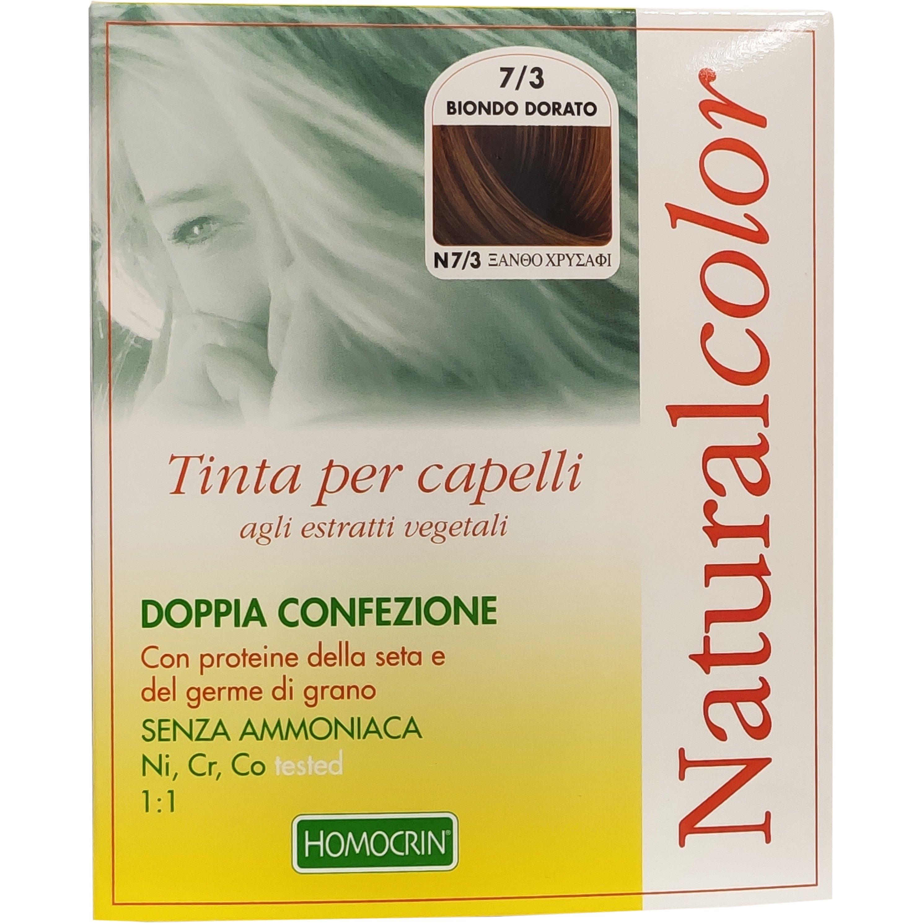 Specchiasol Homocrin Natural Color Φυτική Βαφή Μαλλιών Χωρίς Αμμωνία 1 Τεμάχιο – Ν7/3 Ξανθό Χρυσαφί