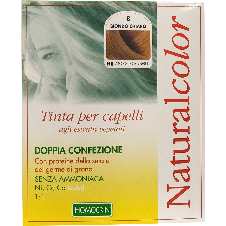 Specchiasol Homocrin Natural Color Φυτική Βαφή Μαλλιών Χωρίς Αμμωνία 1 Τεμάχιο – Ν8 Ανοιχτό Ξανθό