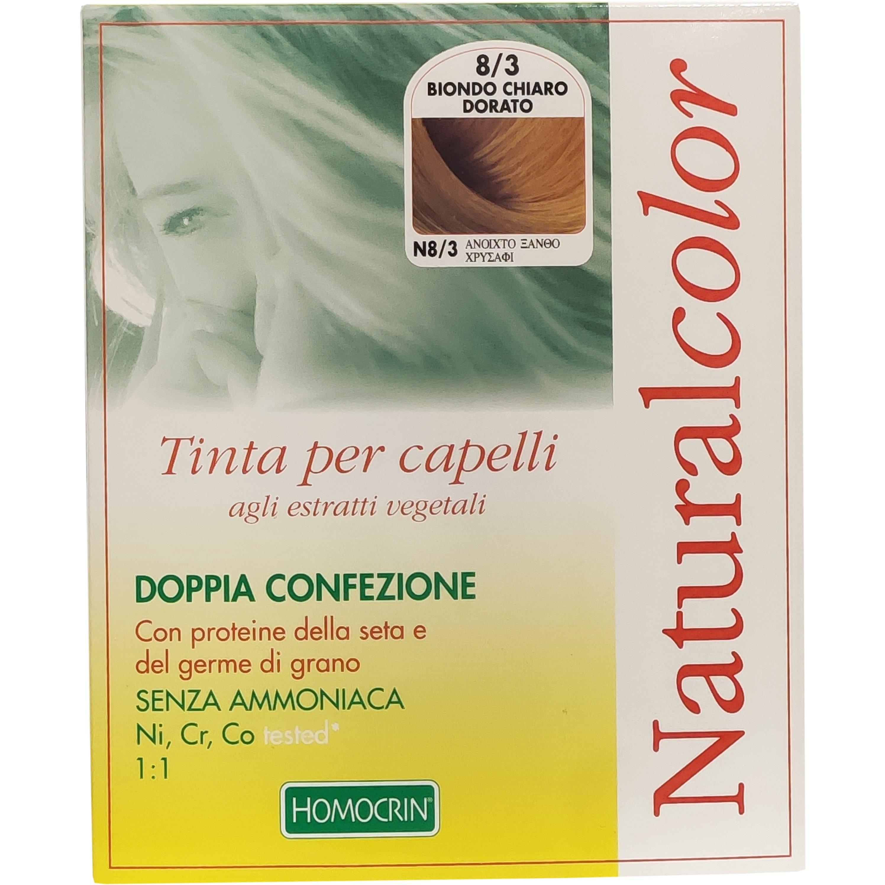 Specchiasol Homocrin Natural Color Φυτική Βαφή Μαλλιών Χωρίς Αμμωνία 1 Τεμάχιο – Ν8/3 Ανοιχτό Ξανθό Χρυσαφί