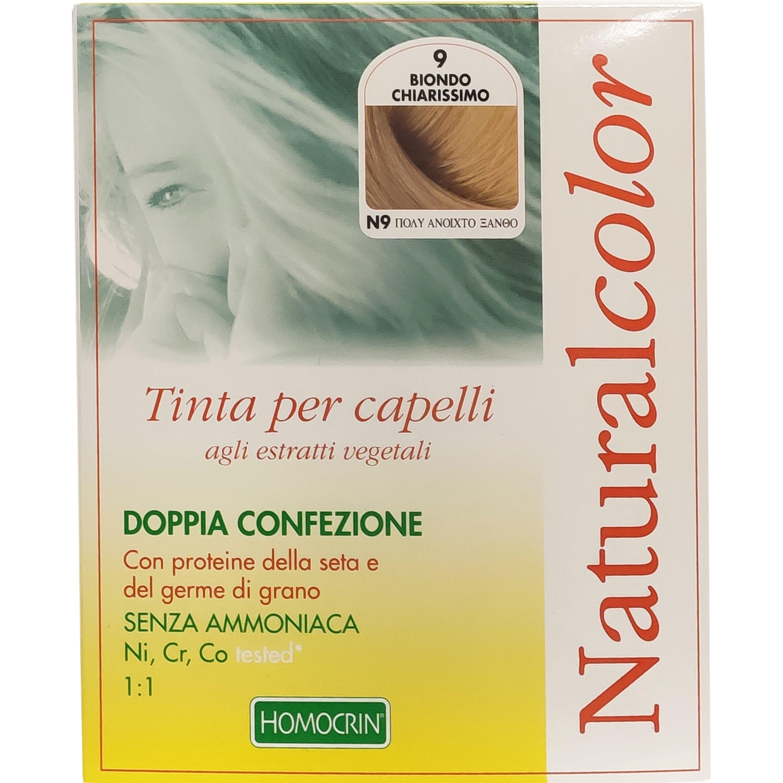 Specchiasol Homocrin Natural Color Φυτική Βαφή Μαλλιών Χωρίς Αμμωνία 1 Τεμάχιο – Ν9 Πολύ Ανοιχτό Ξανθό
