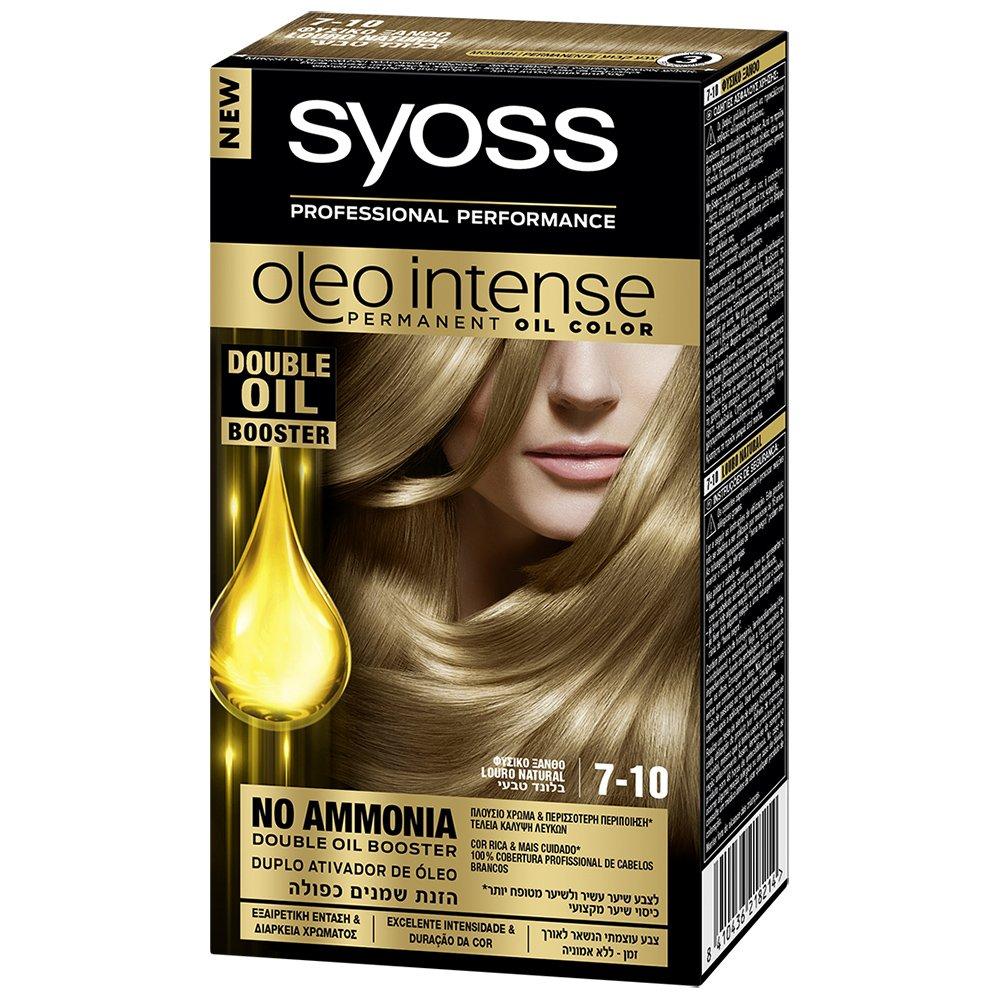 Syoss Oleo Επαγγελματική Μόνιμη Κρέμα Βαφή – 7-10 Φυσικό Ξανθό