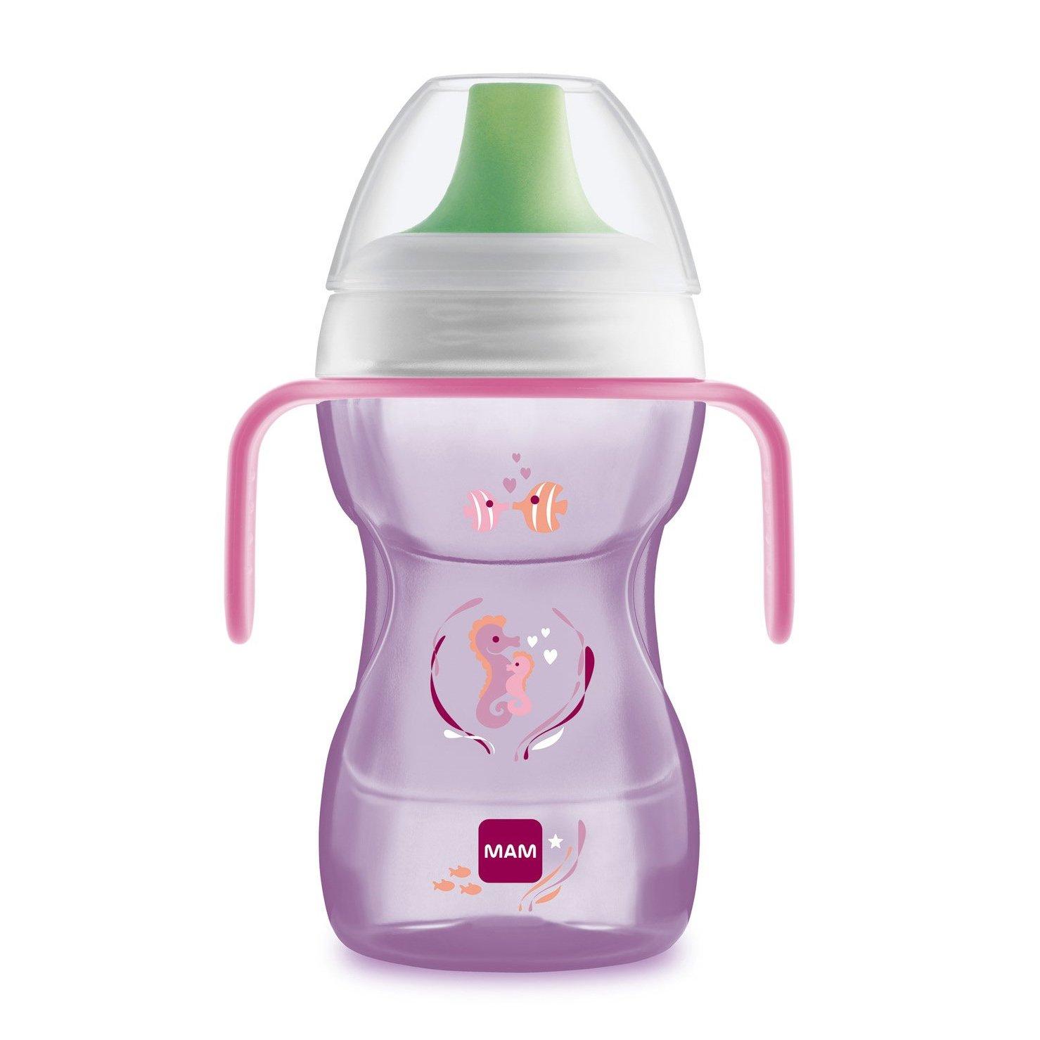 Mam Fan to Drink Cup Κωδ 461 Εκπαιδευτικό Ποτηράκι με Χερουλάκια Ιδανικό για Μετάβαση στο Κανονικό Ποτήρι από 8+ Μηνών 270ml – ροζ