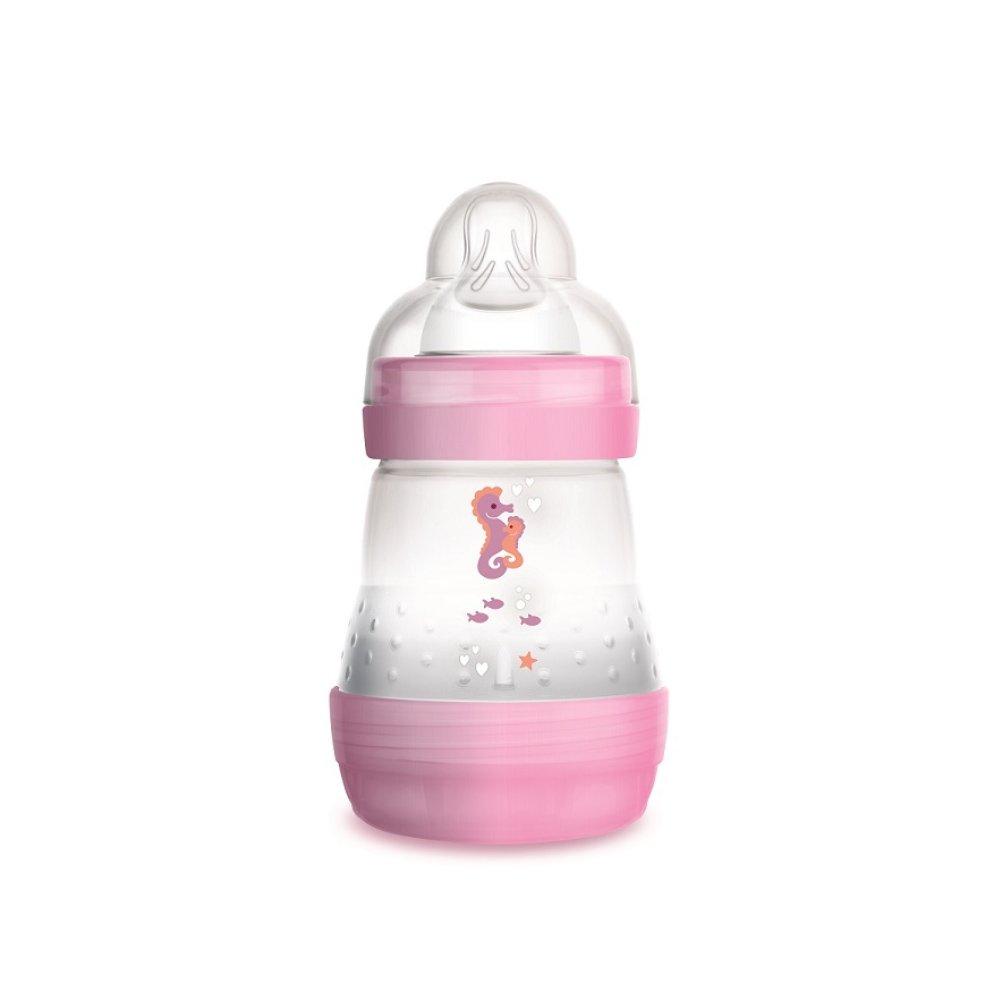 Mam Easy Start™ Anti-Colic 0+ Μηνών, Κωδ 350S Μπιμπερό Πολυπροπυλενίου με Θηλή Σιλικόνης & Σύστημα Κατά των Κολικών 160ml – ροζ