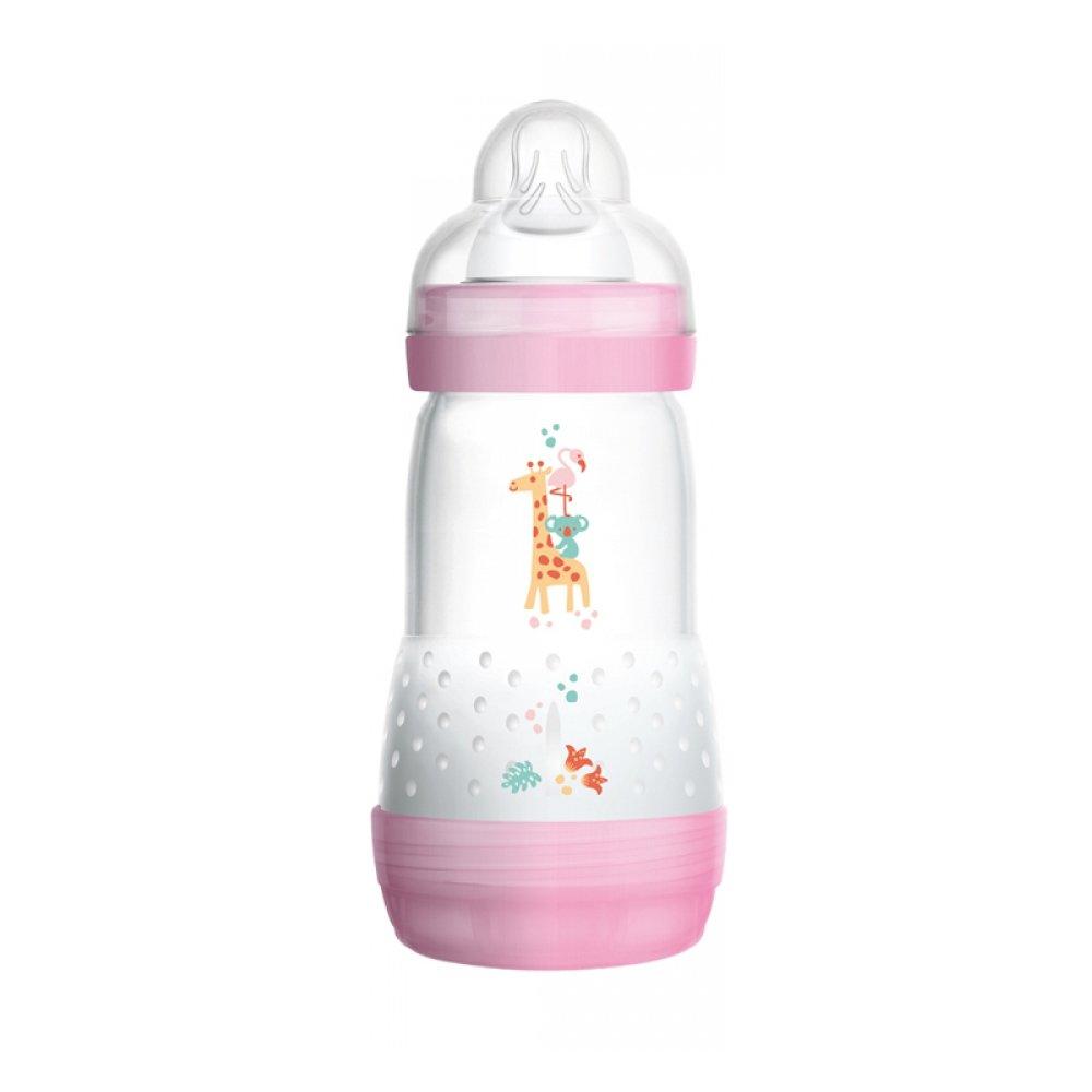 Mam Easy Start™ Anti-Colic 2+ Μηνών, Κωδ 351S Μπιμπερό Πολυπροπυλενίου με Θηλή Σιλικόνης & Σύστημα Κατά των Κολικών 260ml – ροζ
