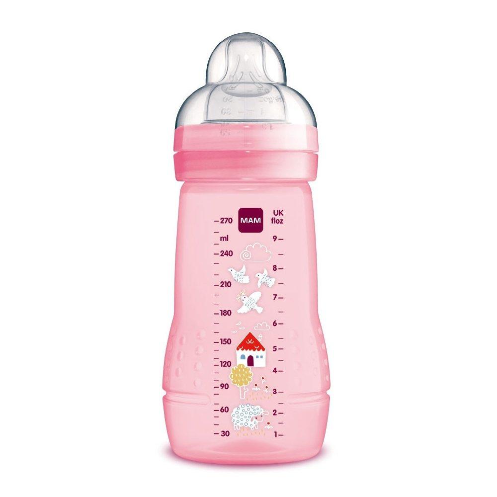 Mam Easy Active™ Baby Bottle 2+ Μηνών Κωδ 360S Μπιμπερό Πολυπροπυλενίου με Θηλή Σιλικόνης 270ml – ροζ