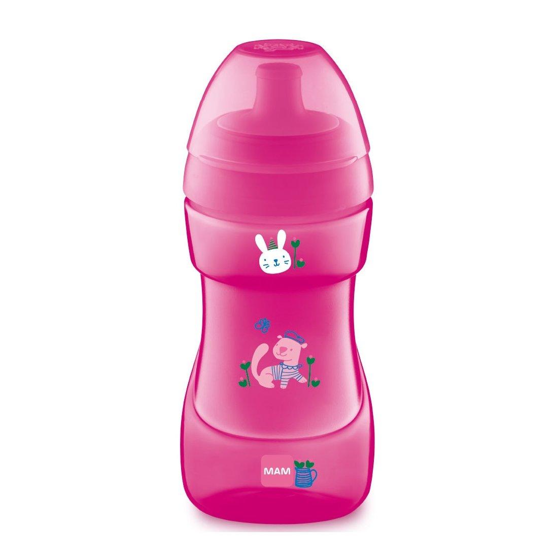 Mam Sports Cup Ποτηράκι Εξόδου με Στόμιο που δεν Στάζει Κωδ 470 από 12+ Μηνών 330ml 1 Τεμάχιο – ροζ