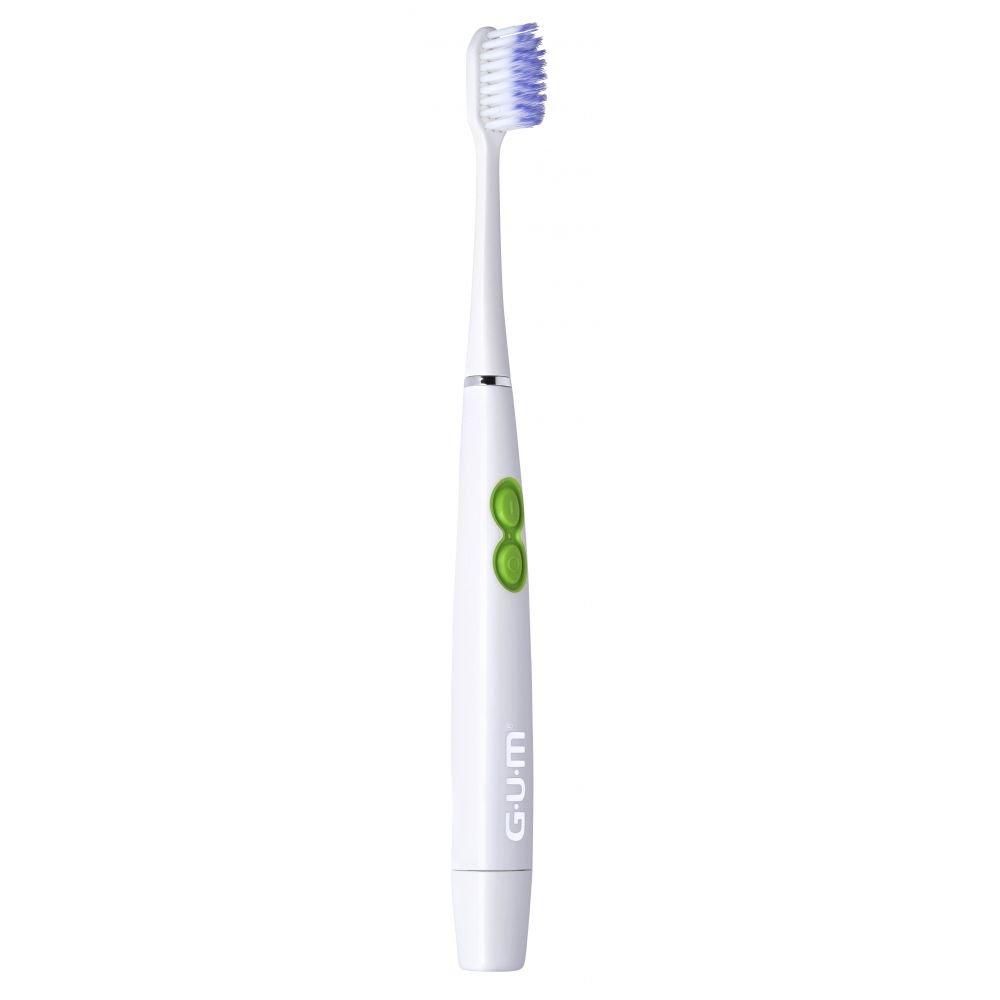 Gum Activital Sonic Soft 4110 Οδοντόβουρτσα Παλμικής Κίνησης για Έναν Απαλό & Βαθύ Καθαρισμό & Δώρο 2 Κεφαλές Αντικατάστασης – άσπρο