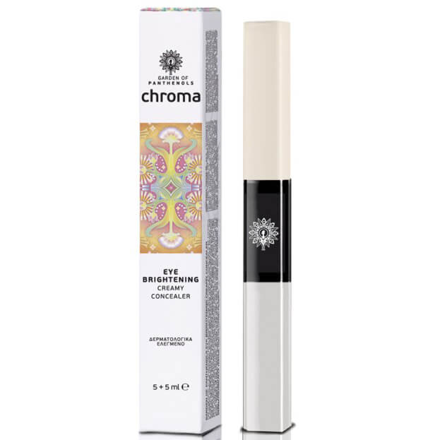Garden of Panthenols Chroma Eye Brightener Creamy Concealer, Κρέμα Ματιών & Concealer 10ml – Ivory