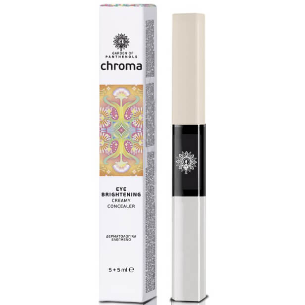 Garden of Panthenols Chroma Eye Brightener Creamy Concealer, Κρέμα Ματιών & Concealer 10ml – Beige