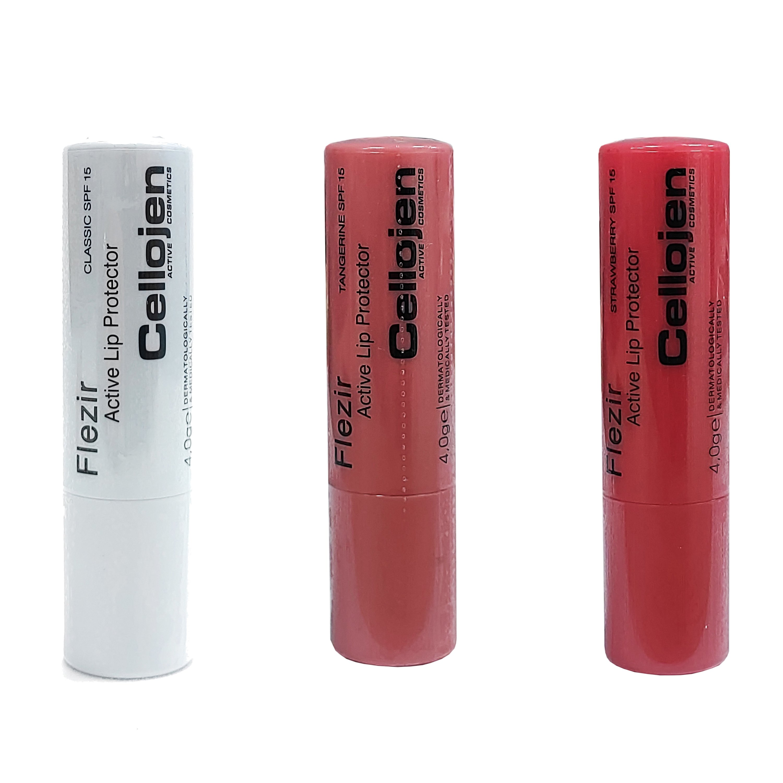 Cellojen Flezir Lip Protector Spf15 Εντατική Προστασία για Κατεστραμμένα, Αφυδατωμένα, Σκασμένα Χείλη 4gr – Cherry