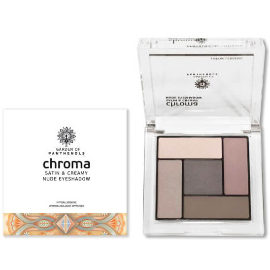 Garden of Panthenols Chroma Satin & Creamy Eyeshadow Απαλές, Μεταξένιες Σκιές 6gr – 1