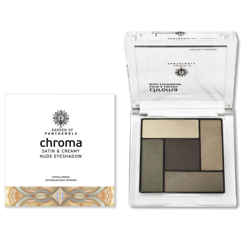 Garden of Panthenols Chroma Satin & Creamy Eyeshadow Απαλές, Μεταξένιες Σκιές 6gr – 3