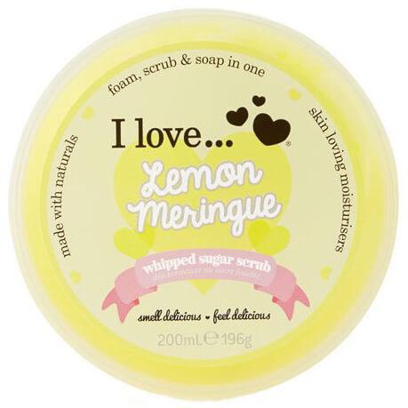 I love… Whipped Sugar Scrub Ενυδατικό Απολεπιστικό Σώματος με Ζάχαρη & Φυσικά Συστατικά 200ml – Lemon Meringue