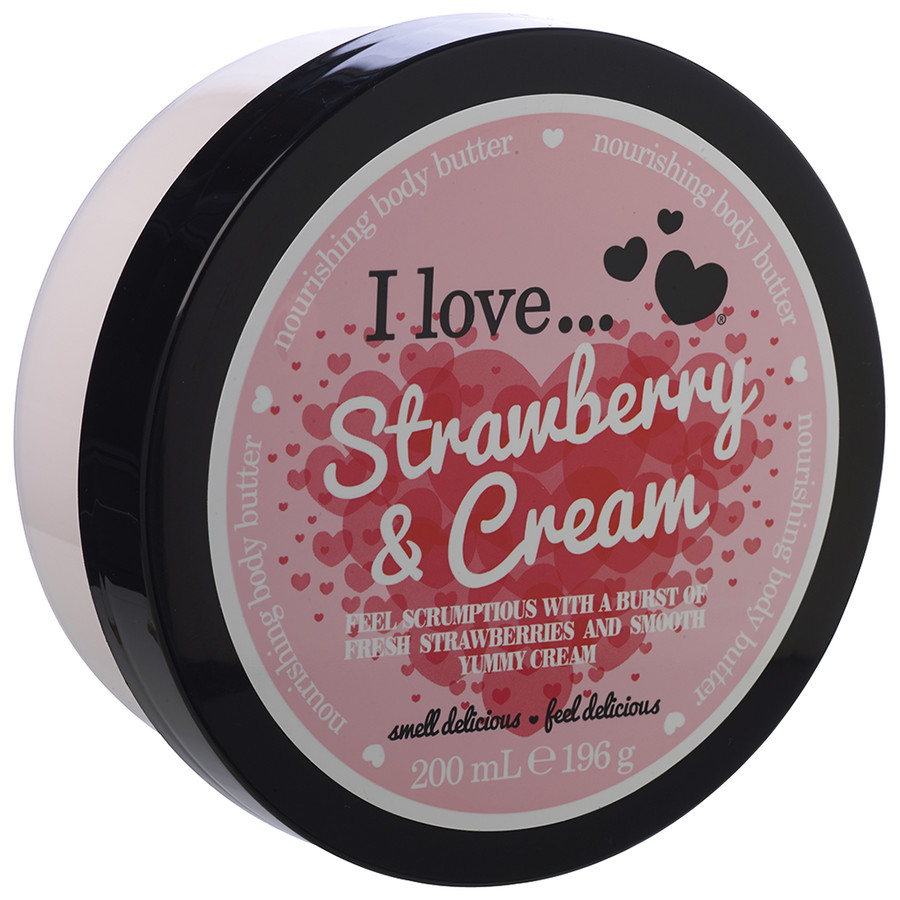 I love… Nourishing Body Butter Θρεπτικό Βούτυρο Σώματος 200ml – Strawberries & Cream