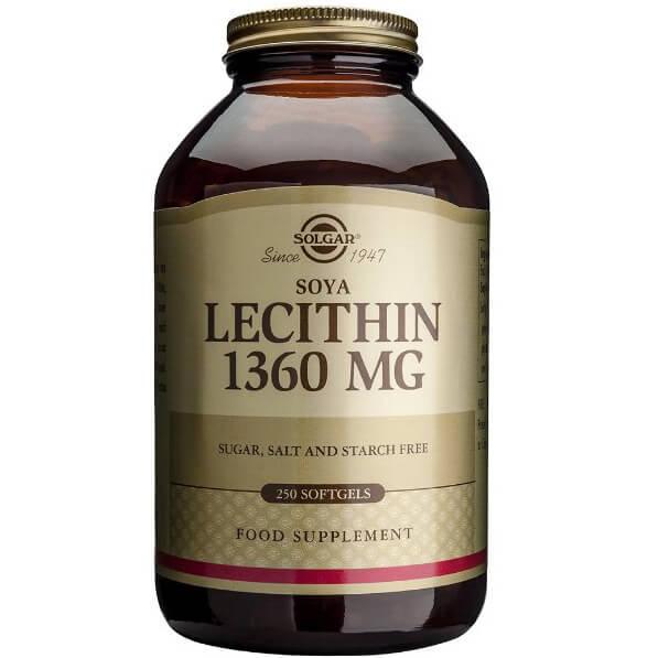 Solgar Lecithin 1360mg Συμπλήρωμα Διατροφής για τη Διατήρηση & τον Έλεγχο του Σωματικού Βάρουςsoftgels – 250 softgels