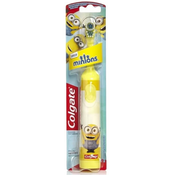 Colgate Minions Desing-It Battery Kids Extra Soft Παιδική Ηλεκτρική Οδοντόβουρτα Πολύ Μαλακή 1 Τεμάχιο – κίτρινο