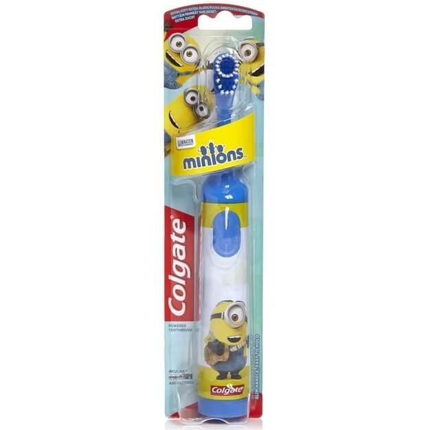 Colgate Minions Desing-It Battery Kids Extra Soft Παιδική Ηλεκτρική Οδοντόβουρτα Πολύ Μαλακή 1 Τεμάχιο – μπλέ