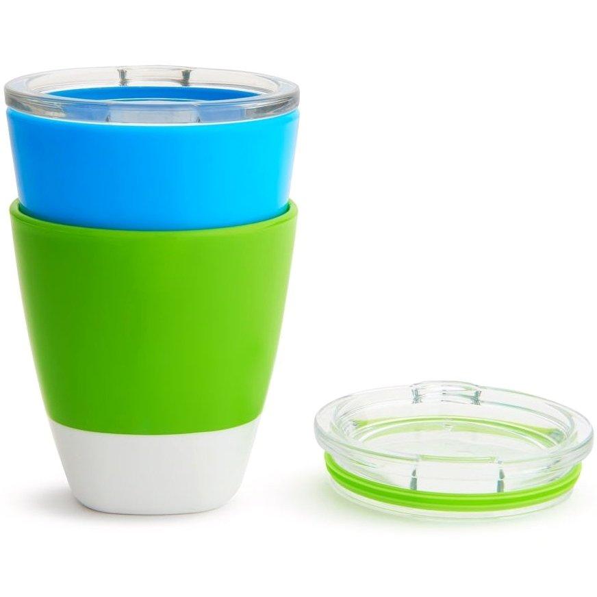 Munchkin Splash 2 Cups with Training Lids Εκπαιδευτικά Ποτήρια – Μπλε – Πράσινο