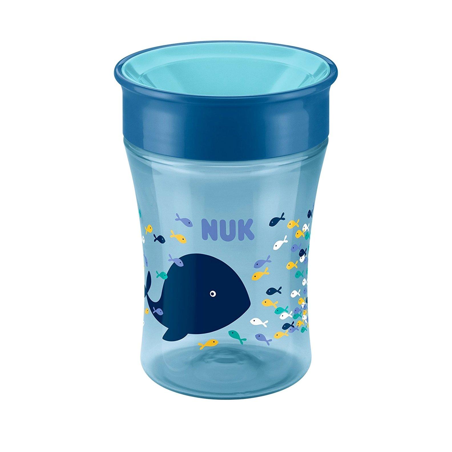 Nuk Magic Cup Ποτήρι Εκπαίδευσης Πολυπροπυλενίουμε Καινοτόμο Χείλος 8+m BPA Free 230ml – μπλέ