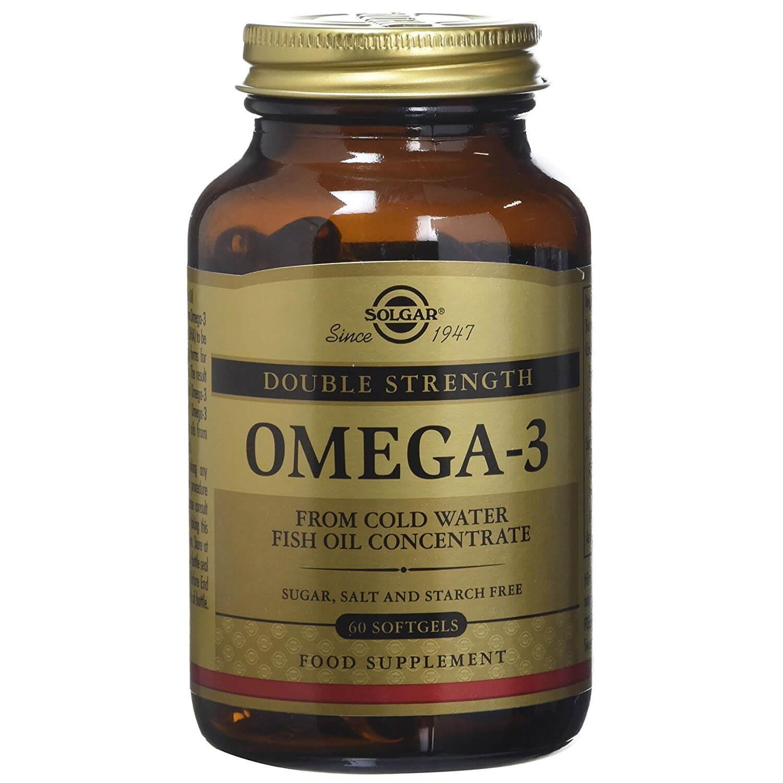 Solgar Omega-3 Double Strength Συμπλήρωμα Διατροφής που Προστατεύει το Καρδιαγγειακό Σύστημα Softgels – 60softgels