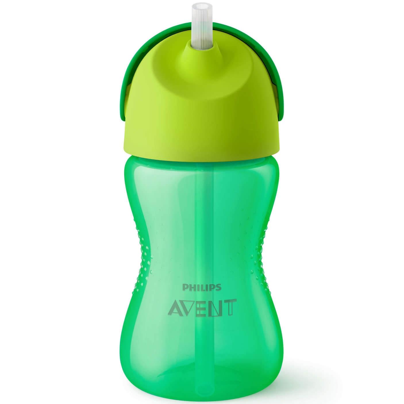 Philips Avent Bendy Straw Cup Κύπελλο με Καλαμάκι 12m+ 300ml SCF798/01-02 – πράσινο