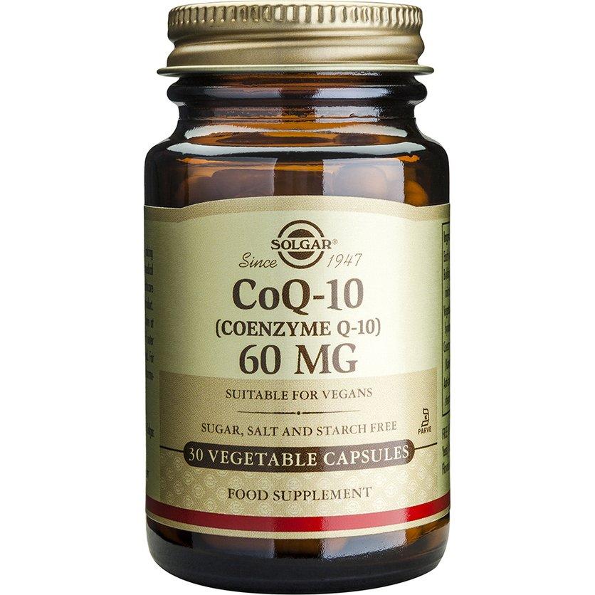 Coenzyme CoQ10 60mg veg.caps – Solgar,Συμπλήρωμα Διατροφής με Συνένζυμο Q10 με Αντιοξειδωτική και Αντιγηραντική Δράση – 30 caps