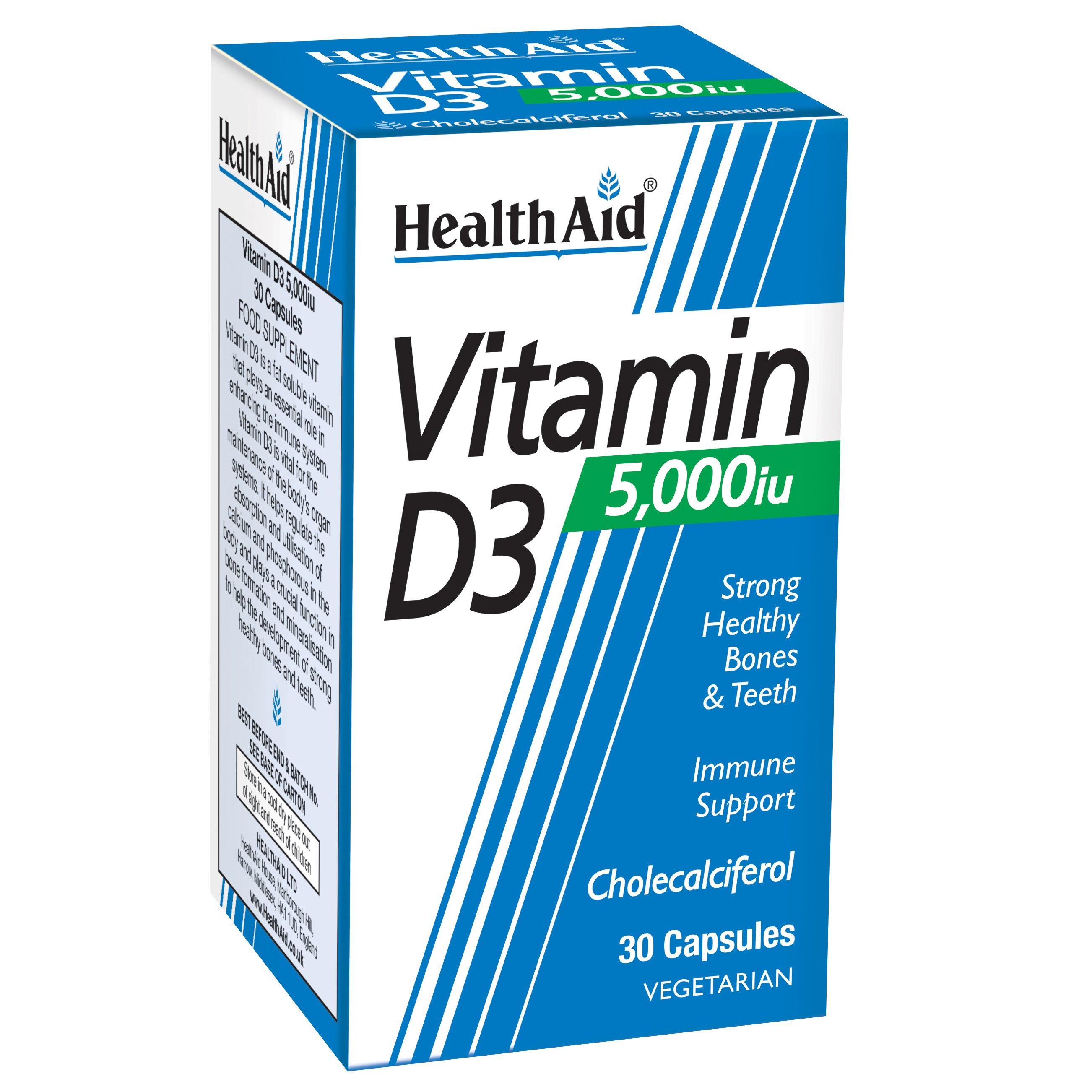 Health Aid Vitamin D3 Προστασία στο Ανοσοποιητικό 30tabs – 5000iu 30tabs
