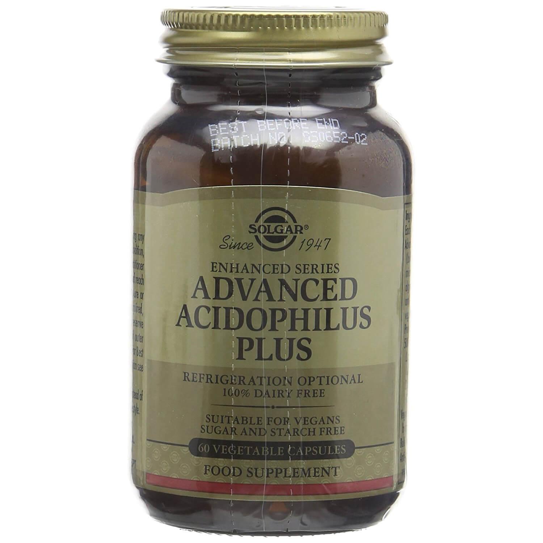 Solgar Advanced Acidophilus Plus Συμπλήρωμα Διατροφής για την Διατήρηση της Φυσιολογικής Λειτουργίας του Εντέρου veg.caps – 60 veg.caps