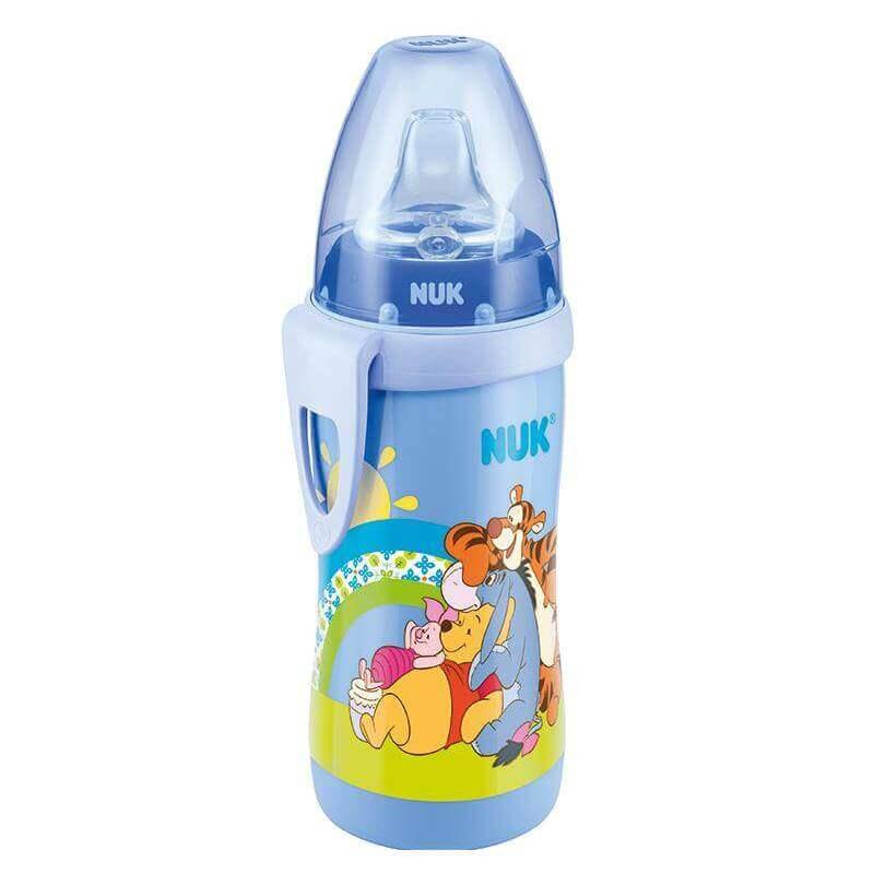 Nuk Active Cup WinnieΠαγουράκι ΠολυπροπυλενίουμεΜαλακό Ρύγχος Σιλικόνης 12+ BPA Free300ml – γαλάζιο