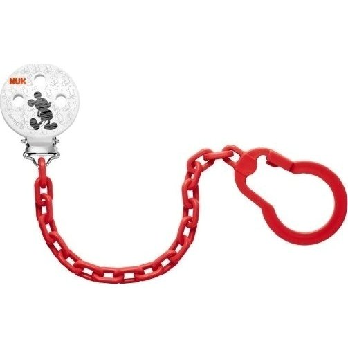 Nuk Soother ChainMickey Αλυσίδα Πιπίλας 0-36m BPA Free – κόκκινο