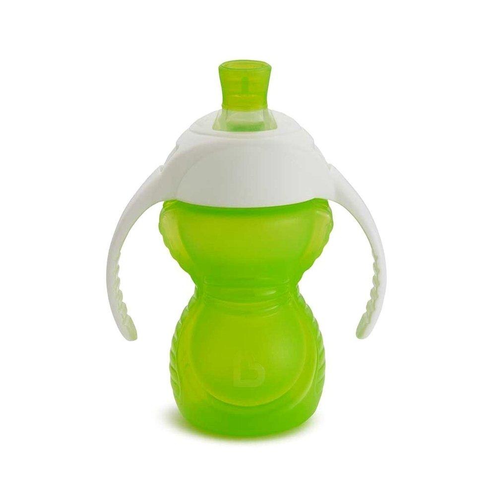 Munchkin Chew Proof Trainer Cup 6M+ Εκπαιδευτικό Ποτηράκι με Μαλακό Στόμιο Χωρίς Διαρροές 237ml – λαχανί