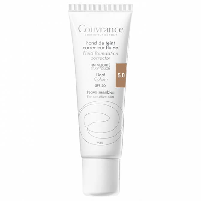 Avene Couvrance Fond te Teint Correcteur Fluide Spf 20 Υγρό Διορθωτικό Make-up30ml – Doré (5.0)