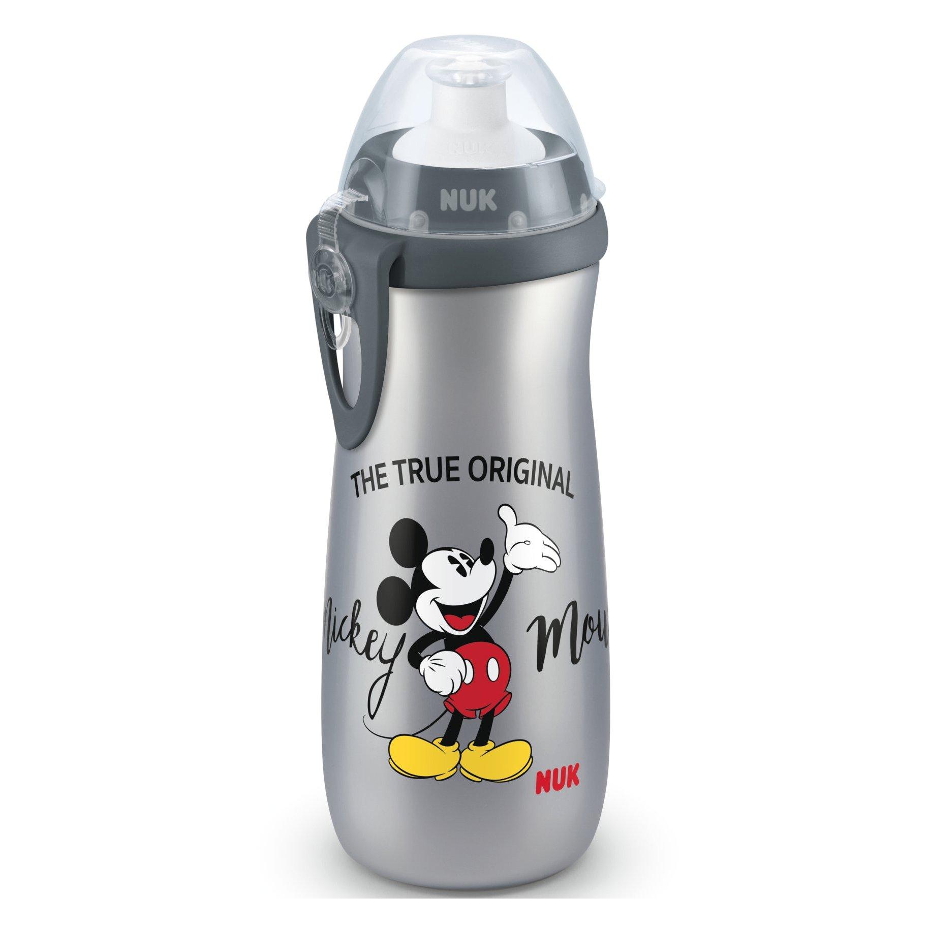 Nuk Sports Cup Mickey Παγουράκι Πολυπροπυλενίου BPA Free 450ml – γκρι
