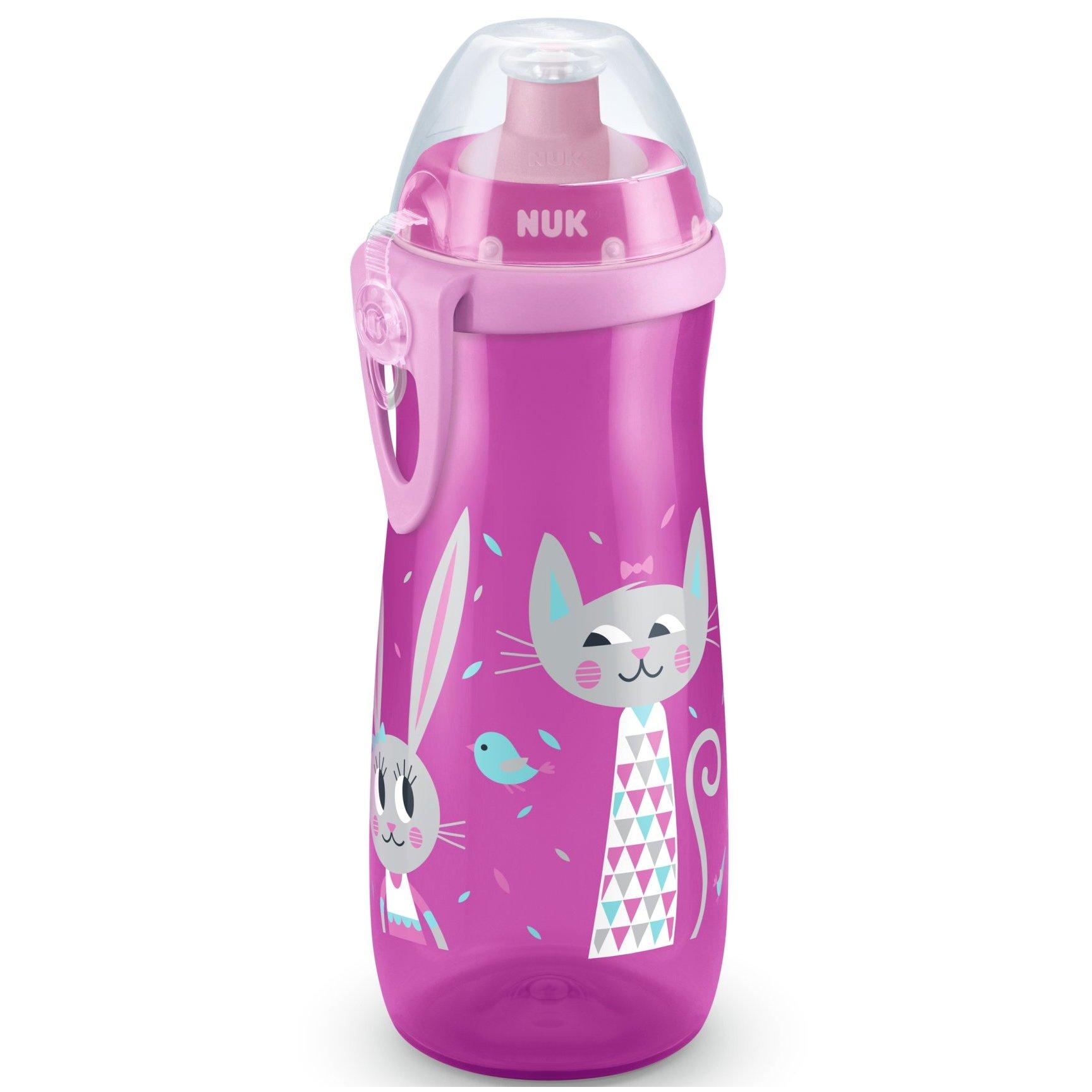 Nuk Sports Cup Παγουράκι Πολυπροπυλενίου BPA Free 450ml – ροζ