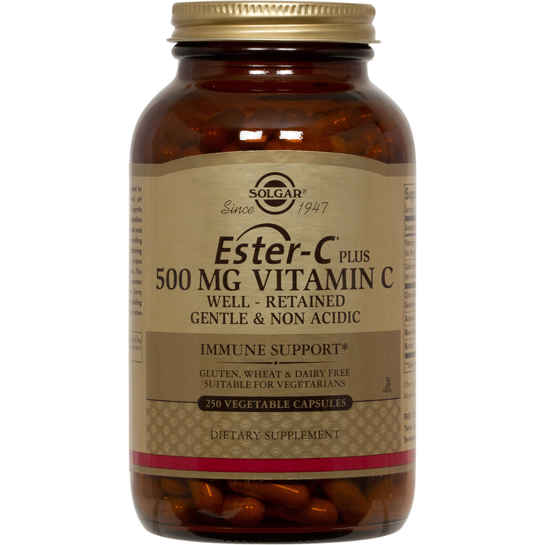 Solgar Ester-C 500mg Συμβάλλει Στην Ομαλή και Αποτελεσματική Λειτουργία του Ανοσοποιητικού Συστήματος veg.caps – 250 veg caps