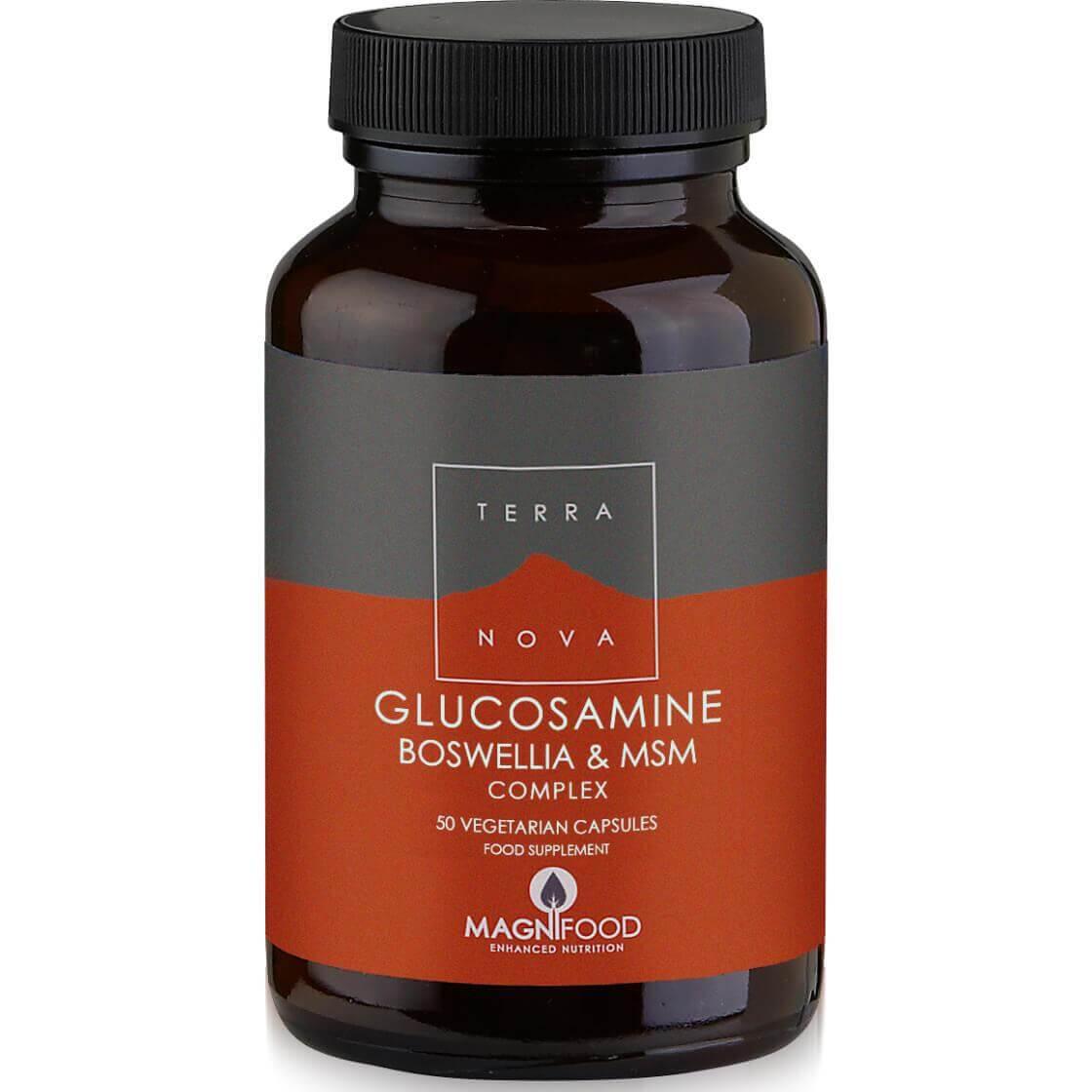 Terranova Glucosamine, Boswellia & ΜSM Complex – Joint Support 100% Φυτική Σύνθεση για τα Προβλήματα των Αρθρώσεων – 50 veg.caps