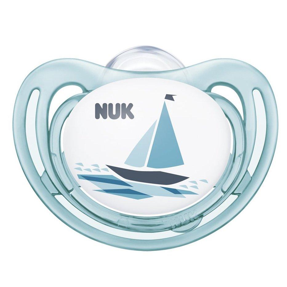 Nuk Freestyle Ορθοδοντική Πιπίλα Σιλικόνης 1 Τεμάχιο – 6-18 Μηνών Γαλάζια