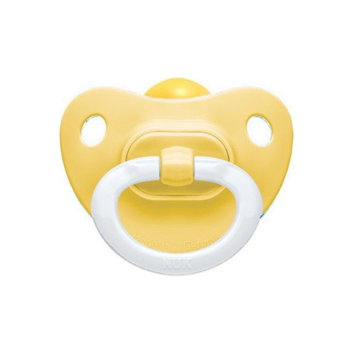 Nuk Classic Soft Πιπίλα Καουτσούκ 1 Τεμάχιο – 18-36 Μηνών Κίτρινη