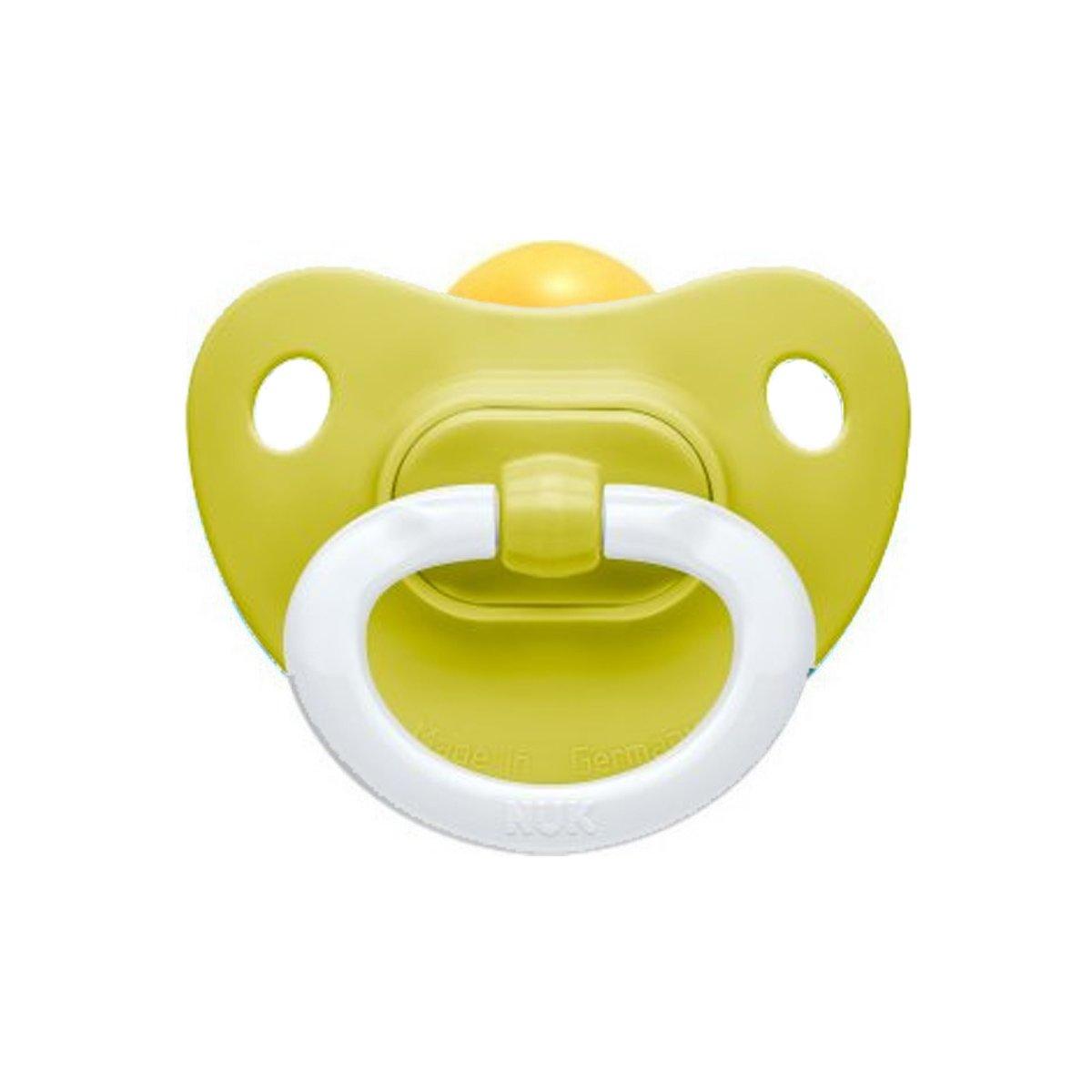Nuk Classic Soft Πιπίλα Καουτσούκ 1 Τεμάχιο – 0-6 Μηνών Πράσινη