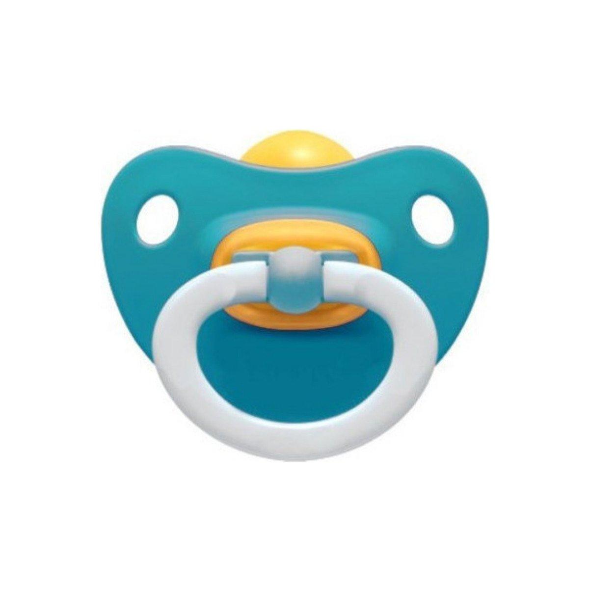 Nuk Classic Soft Πιπίλα Καουτσούκ 1 Τεμάχιο – 6-18 Μηνών Μπλε