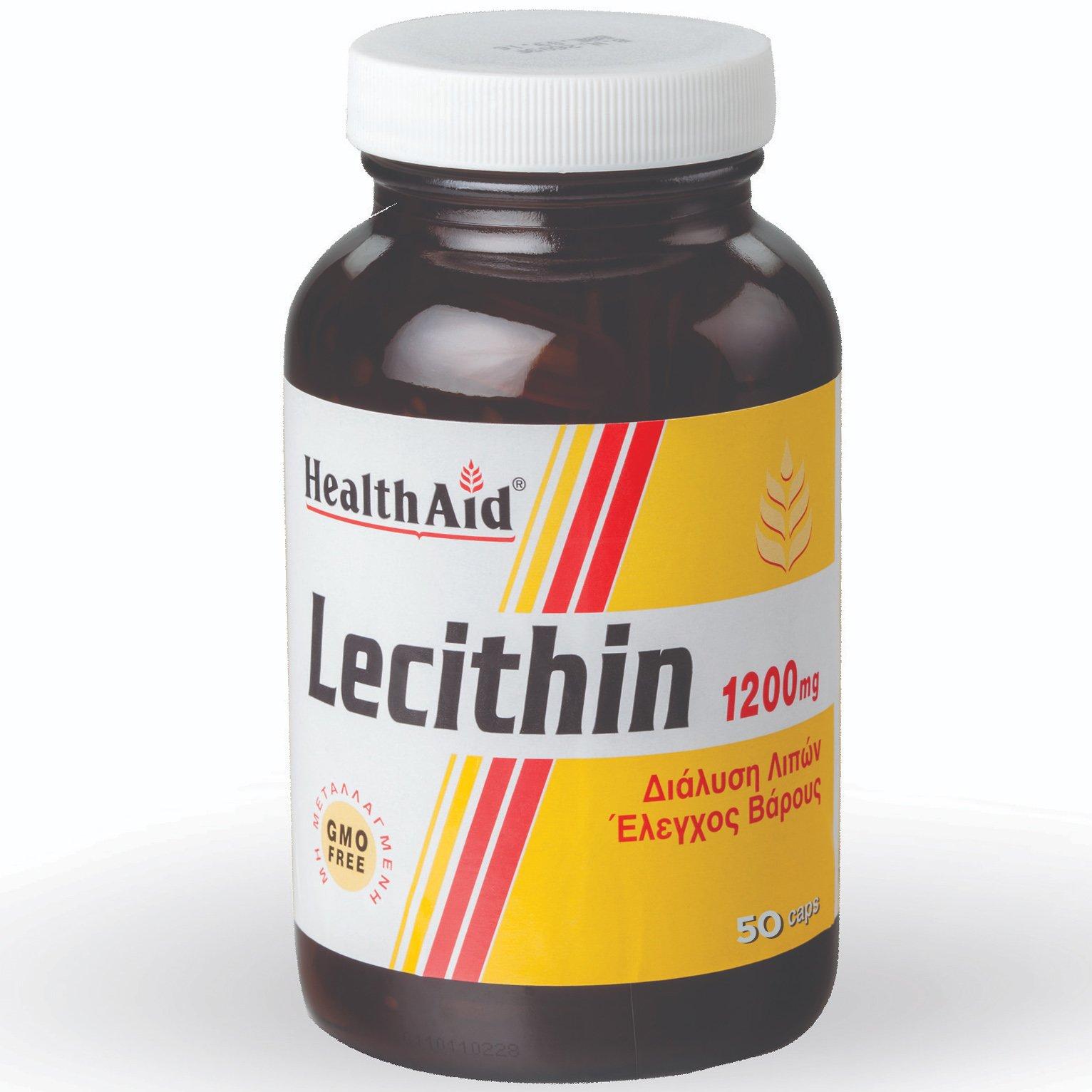 Health Aid Super Lecithin Συμπλήρωμα Διατροφής Φυσικής Λιποδιάλυσης 1200mg - 50  καλοκαίρι   διατροφή και αδυνάτισμα   λιποτροπικά συμπληρώματα διατροφής