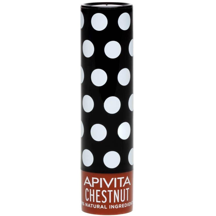 Apivita Lip Care Ενυδατικά Lip Balm Χειλιών 4.4g – Chestnut