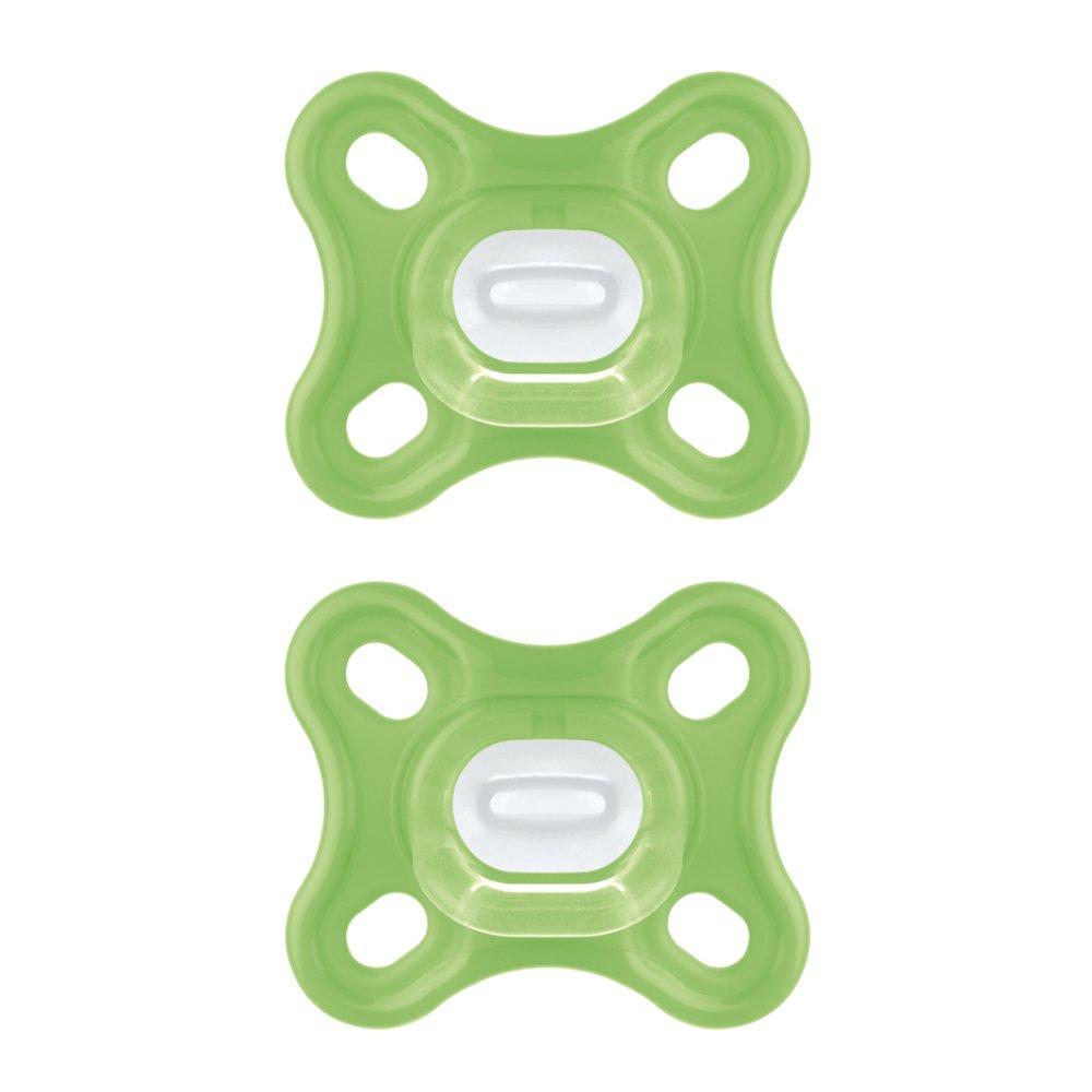 Mam Comfort Ορθοδοντική Πιπίλα Όλο Σιλικόνη Κωδ 126S από 0 Έως 2 Μηνών 2 Τεμάχια – Πράσινο – Πράσινο