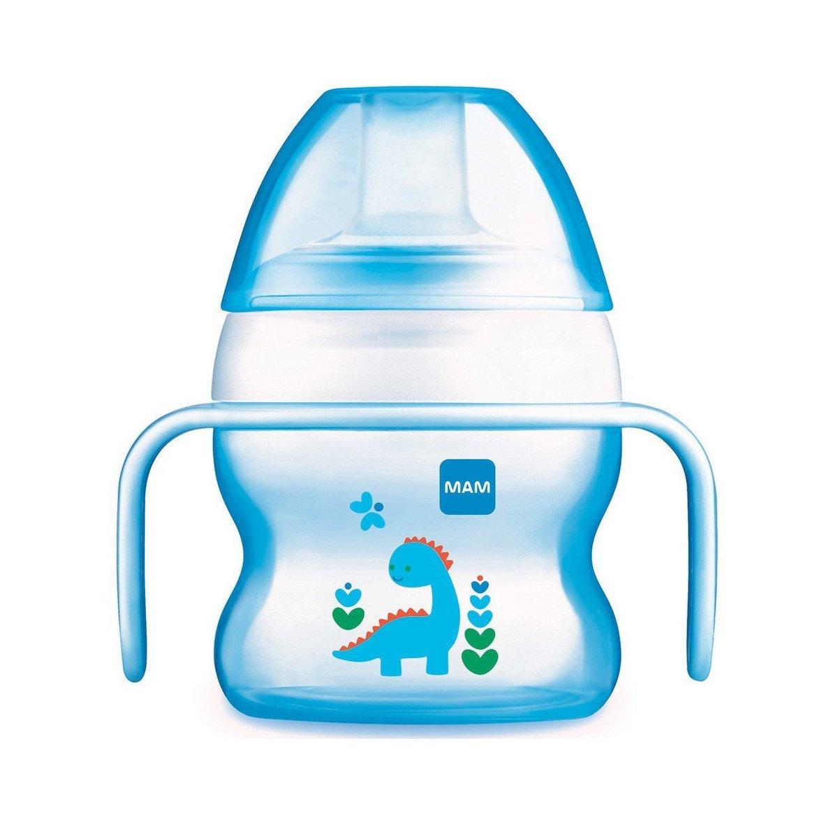 Mam Starter Cup Κωδ 462 Το Πρώτο Ποτηράκι του Μωρού, με Χερουλάκια για Αυτόνομο Κράτημα & Πολύ Μαλακό Στόμιο από 4+ Μηνών 150ml – μπλέ