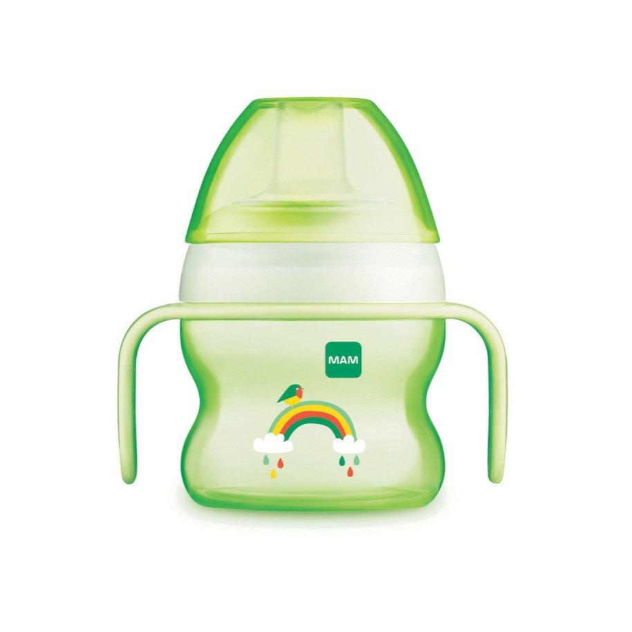 Mam Starter Cup Κωδ 462 Το Πρώτο Ποτηράκι του Μωρού, με Χερουλάκια για Αυτόνομο Κράτημα & Πολύ Μαλακό Στόμιο από 4+ Μηνών 150ml – πράσινο