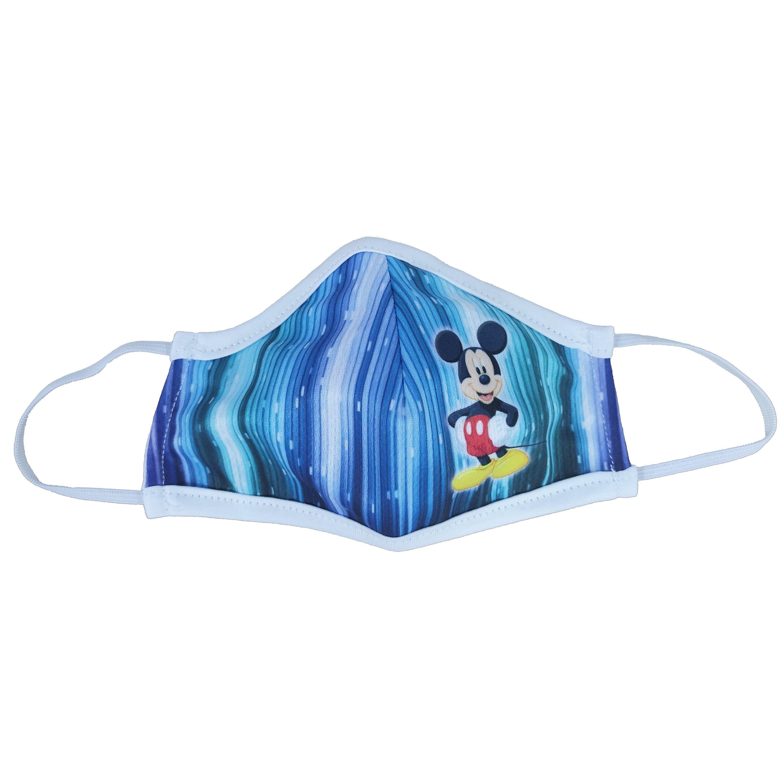Μάσκα Προστασίας Προσώπου Υφασμάτινη Πολλαπλών Χρήσεων για Παιδιά 1 Τεμάχιο – Μπλε Mickey 166