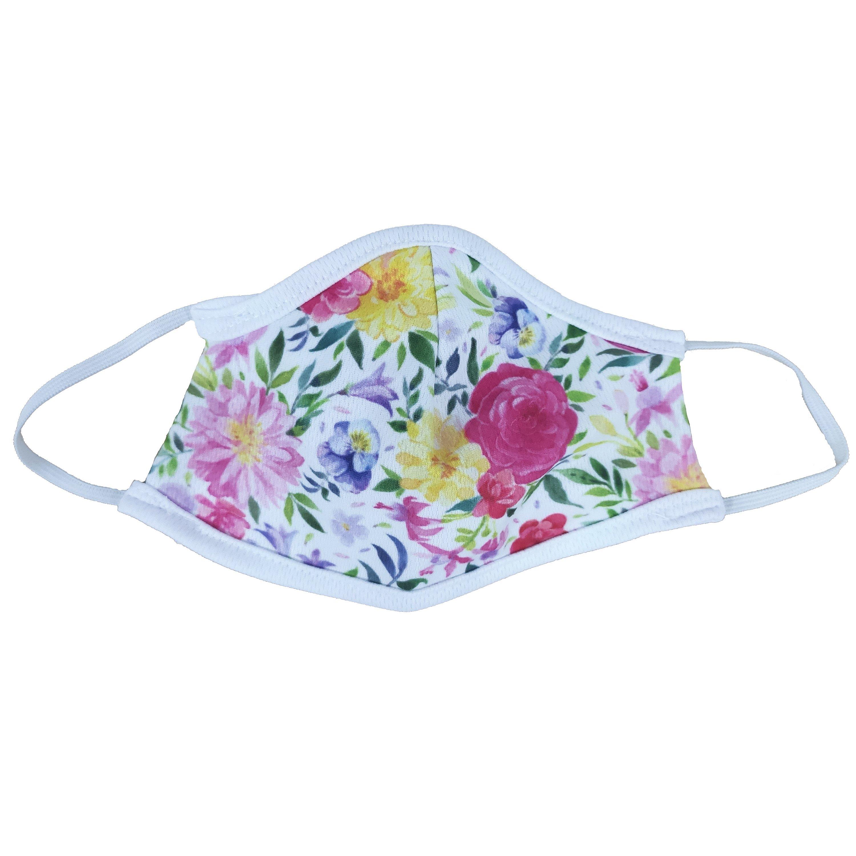 Μάσκα Προστασίας Προσώπου Υφασμάτινη Πολλαπλών Χρήσεων για Παιδιά 1 Τεμάχιο – Λουλούδια 158
