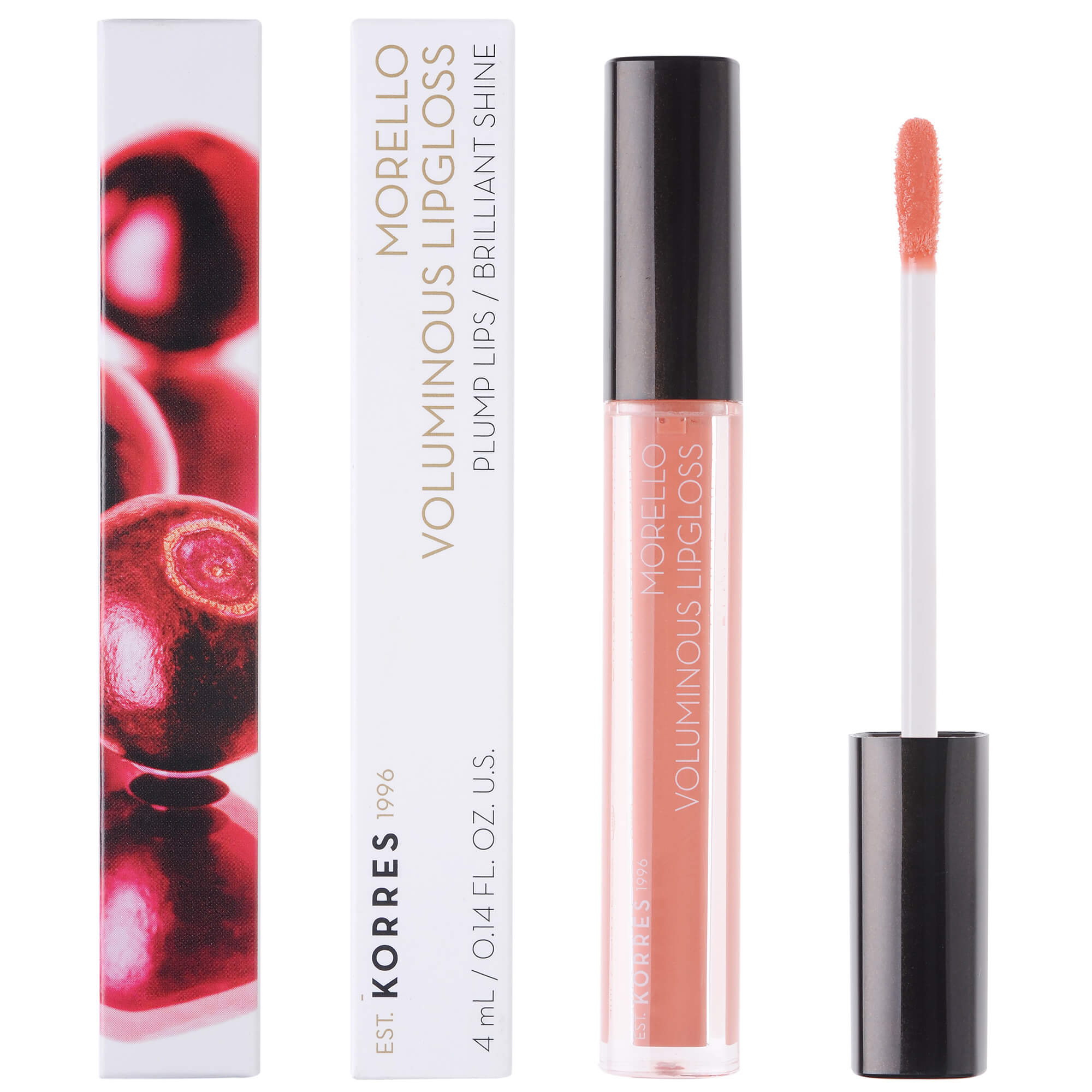 Korres Morello Voluminous Lipgloss Brilliant Shine Ενυδατικό Lipgloss με Εξαιρετική Λάμψη & Γεμάτο Χρώμα που Διαρκεί 4ml – 12 Candy Pink